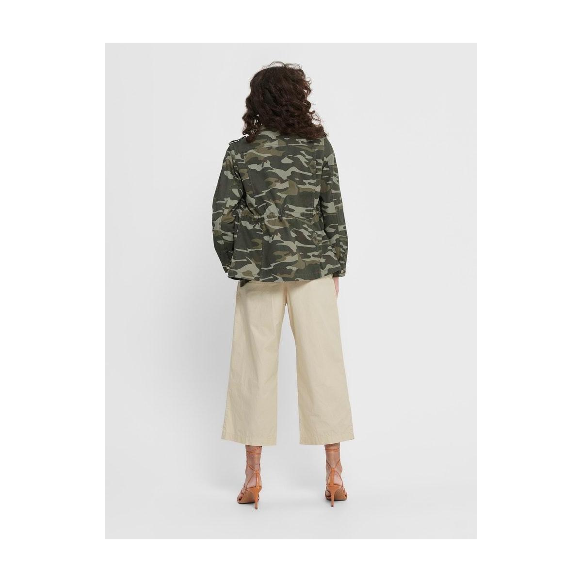 onlohio utility jacket cc otw 15192278 only jas black olive/camo