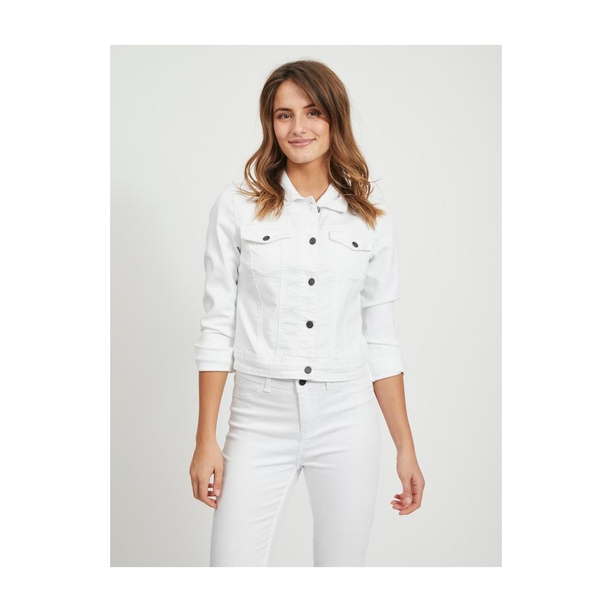 objwin new  denim jacket noos 23026129 object jas white denim