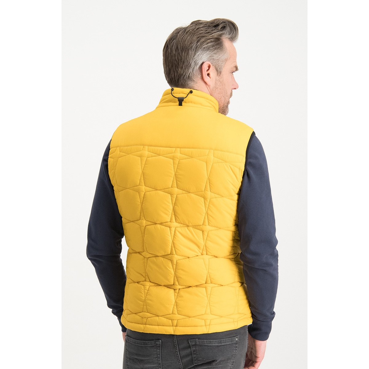 puffer bodywarmer mc13 1030 haze & finn jas mellow yellow