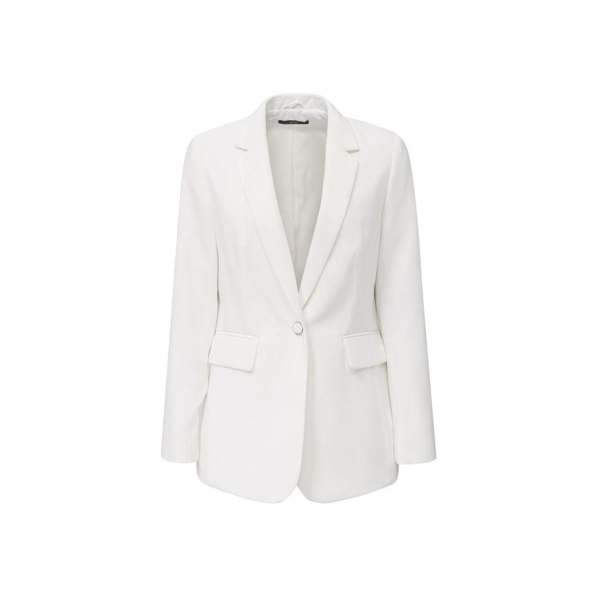 blazer met stretch en 1 knoop 030eo1g301 esprit collection blazer e100