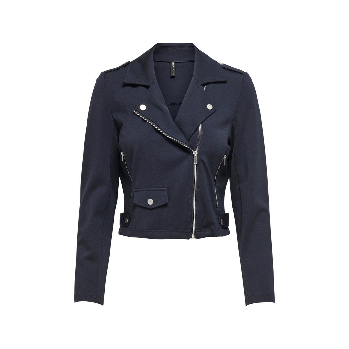 onlpoptrash biker jacket pnt 15202908 only jas night sky