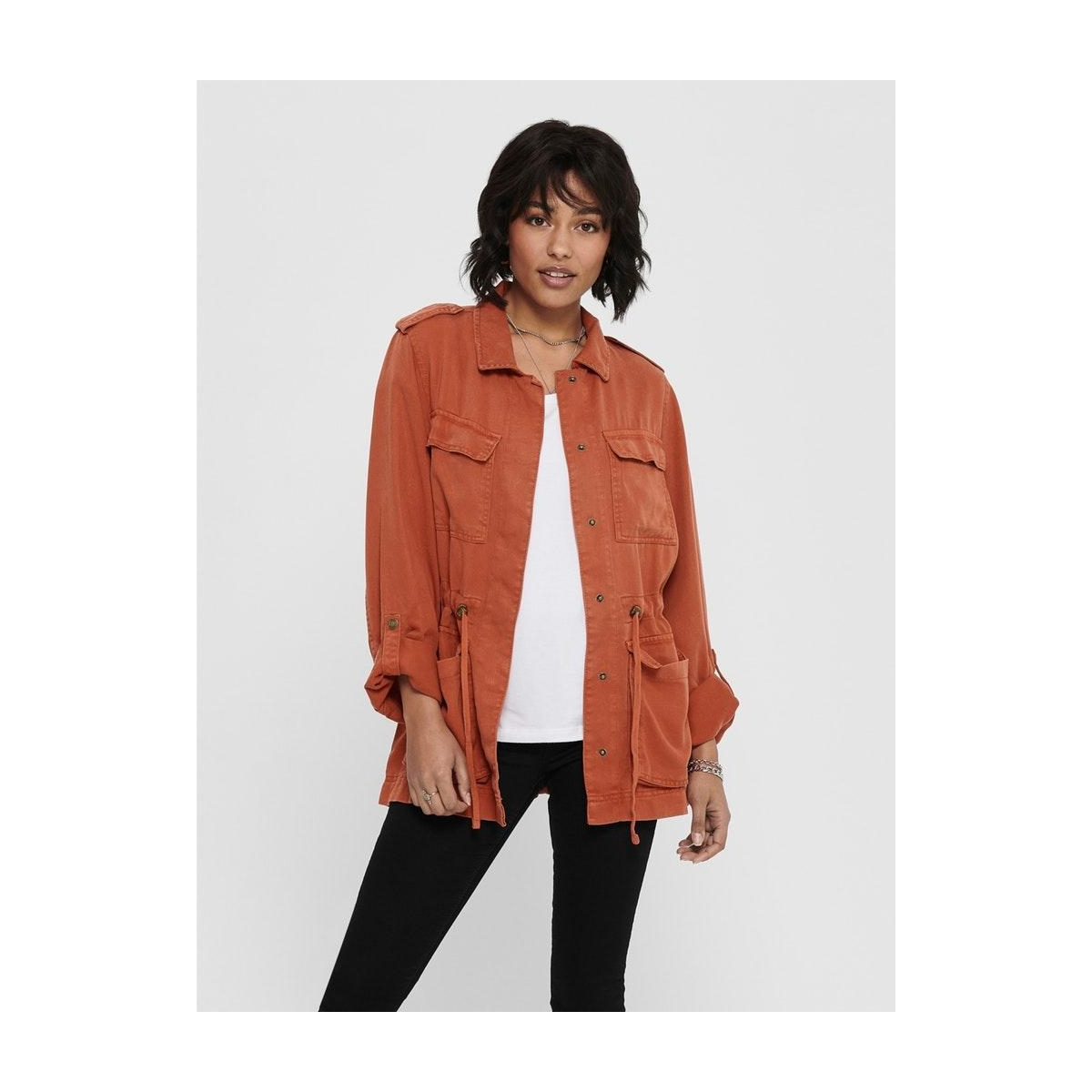 onlkenya life utility jacket otw 15200246 only jas hot sauce