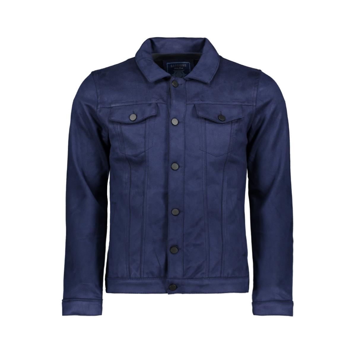suedine jacket 53105 gabbiano jas navy