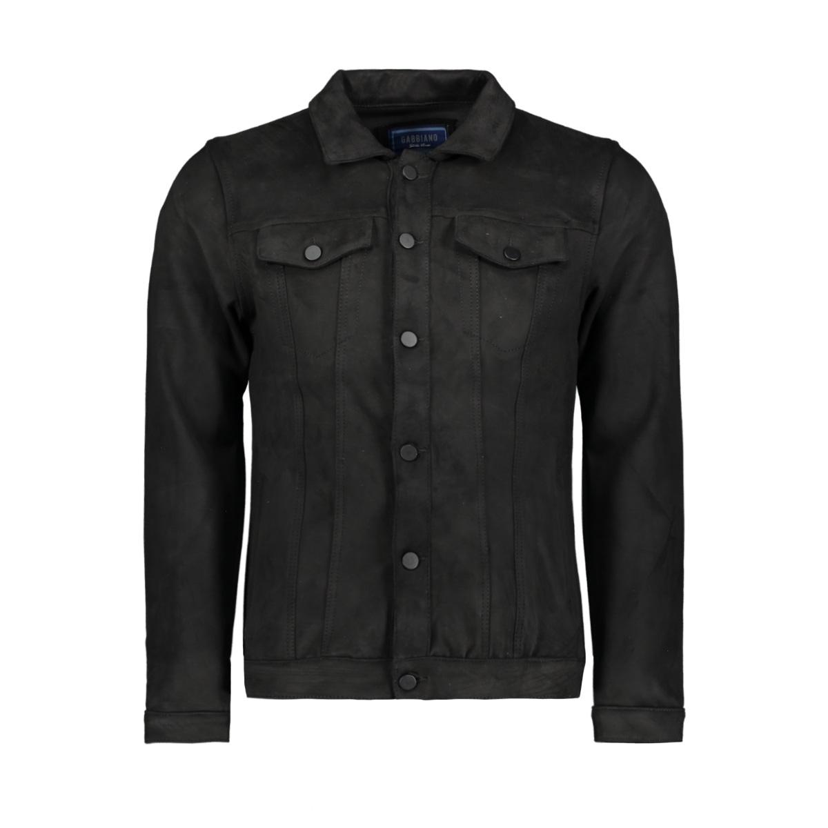 suedine jacket 53105 gabbiano jas black