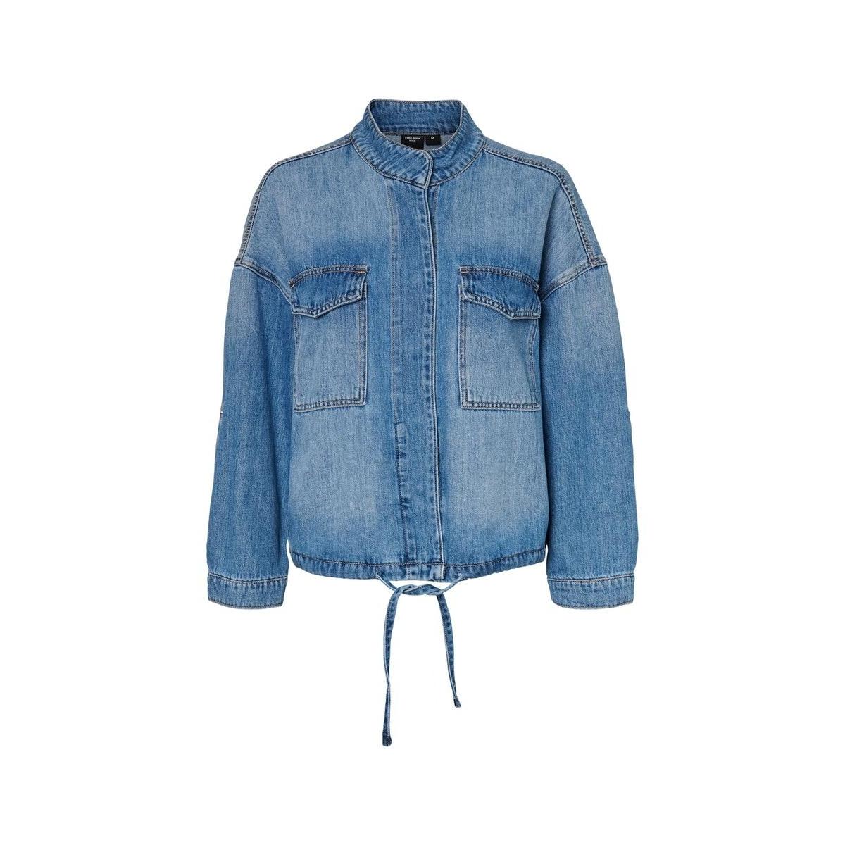 vmnova boxy denim jacket 10229786 vero moda jas medium blue denim