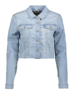Pieces Jas PCAIA FITTED LS CROPPED JACKET LB15 17104839 Light Blue Denim