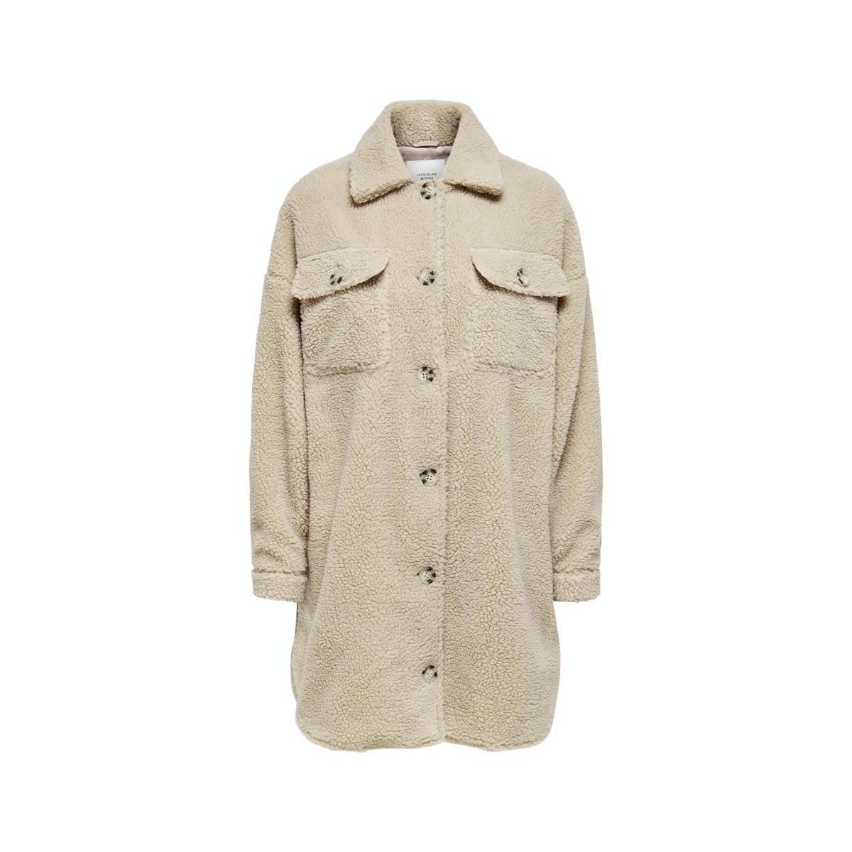 jdystella teddy shirt jacket otw qi 15207877 jacqueline de yong jas cement