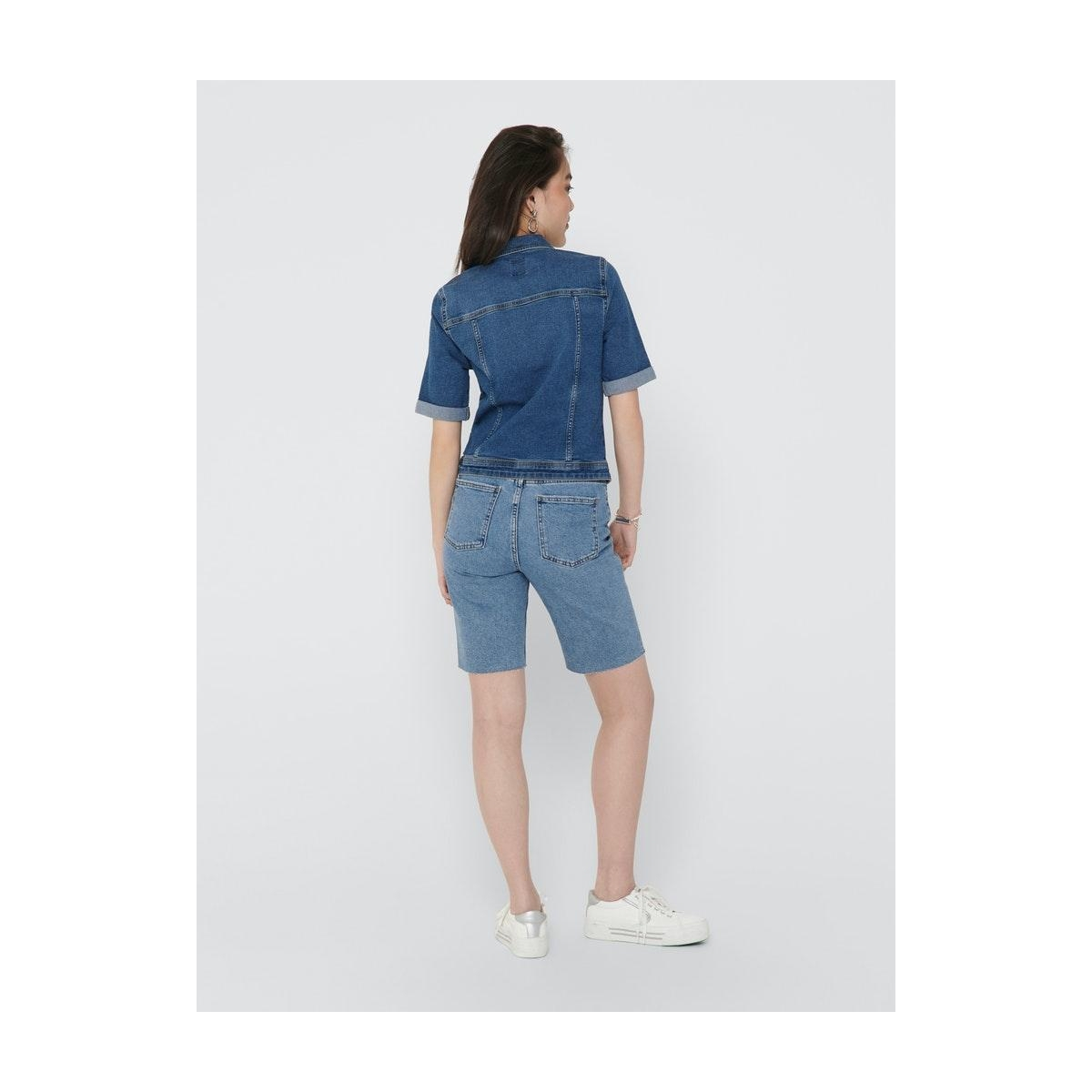onlwesta life ss dnm jacket pim 15204622 only jas medium blue denim