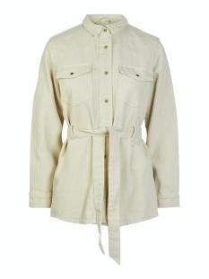 pcnamir ls denim jacket almond milk bc 17104973 pieces jas almond milk