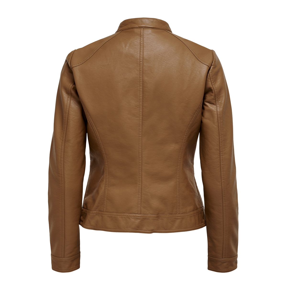 onlbandit faux leather biker otw noos 15081400 only jas cognac