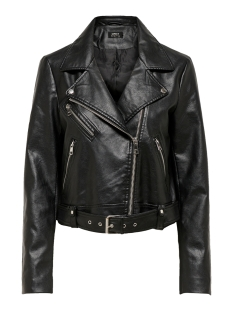 Only Jas ONLVALERIE FAUX LEATHER JACKET CC O 15203954 Black
