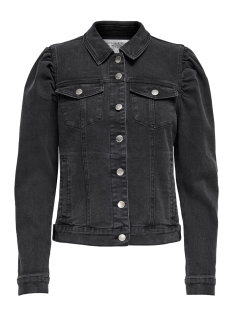 onlhayley  life ls puff dnm jacket 15210911 only jas grey denim