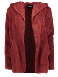 Only Vest ONLNEWCONTACT HOODED SHERPA COAT OTW 15161142 Fired Brick