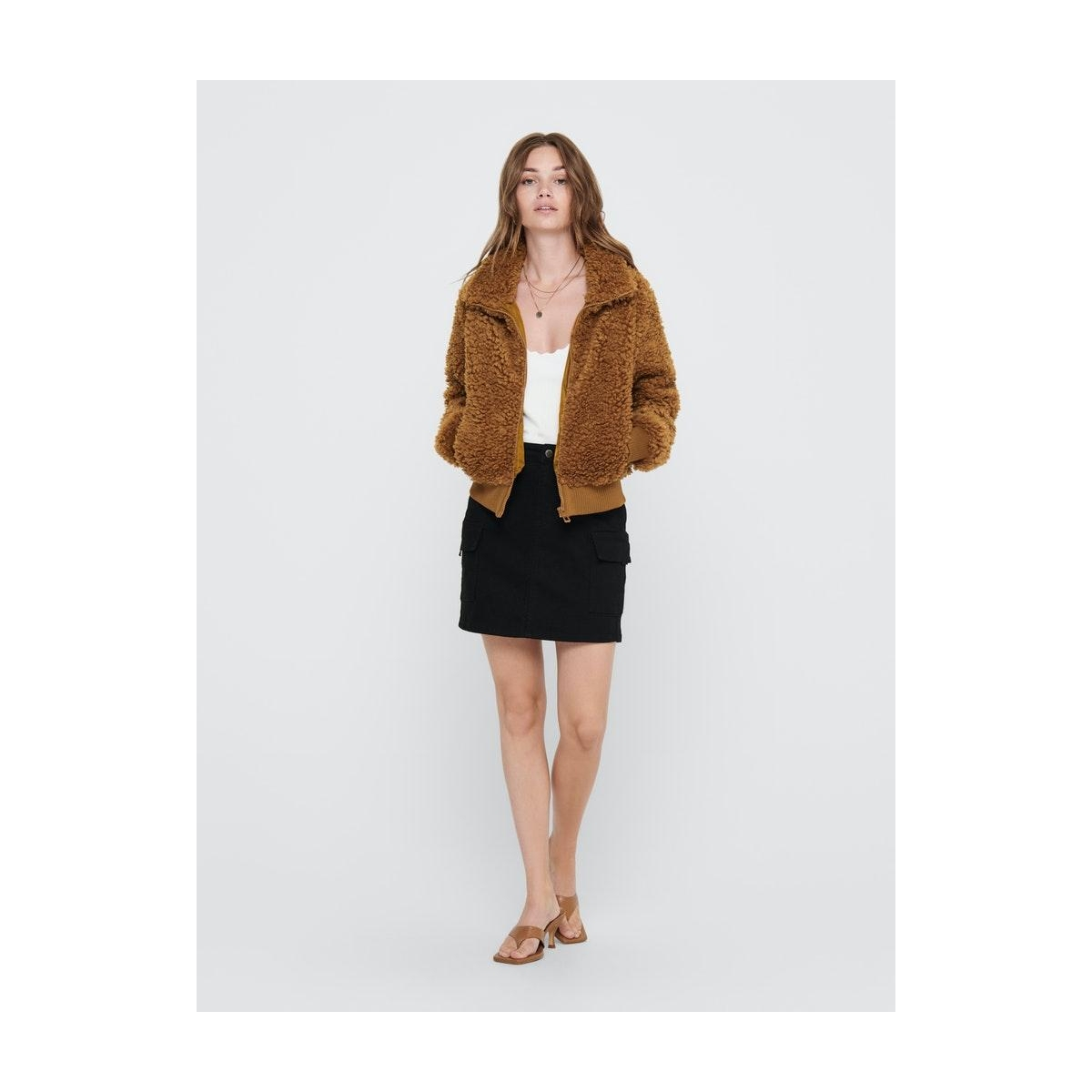 onlellie sherpa bomber jacket cc ot 15206222 only jas cathay spice