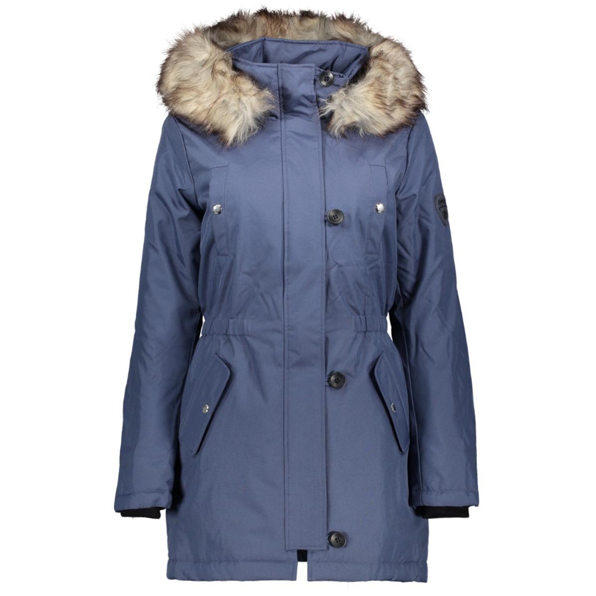 onliris fur winter parka cc otw 15213755 only jas vintage indigo