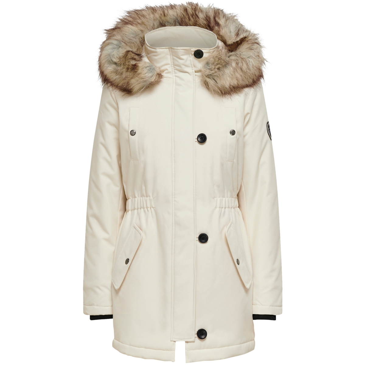 onliris fur winter parka cc otw 15213755 only jas eggnog