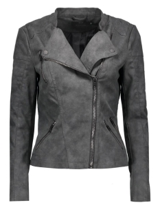 Only Jas onlAva Faux Leather Biker 15102997 phantom