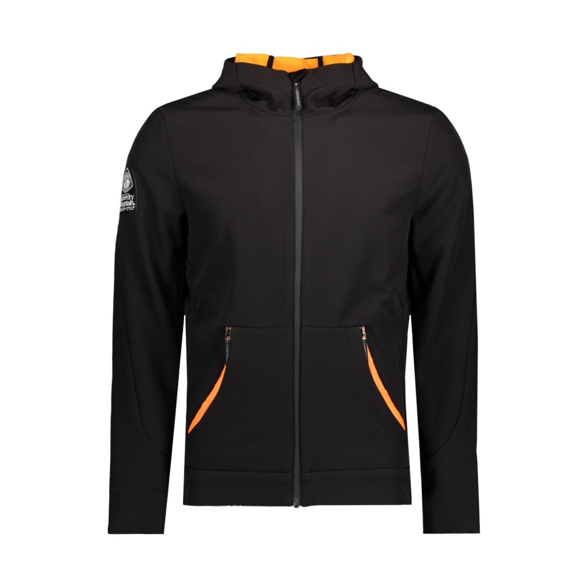 m50002lp mountaineer softshell superdry jas 43a black orange