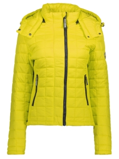 Superdry Jas G50009NPF4 HOODED BOX QUILT LJ6 YELLOW