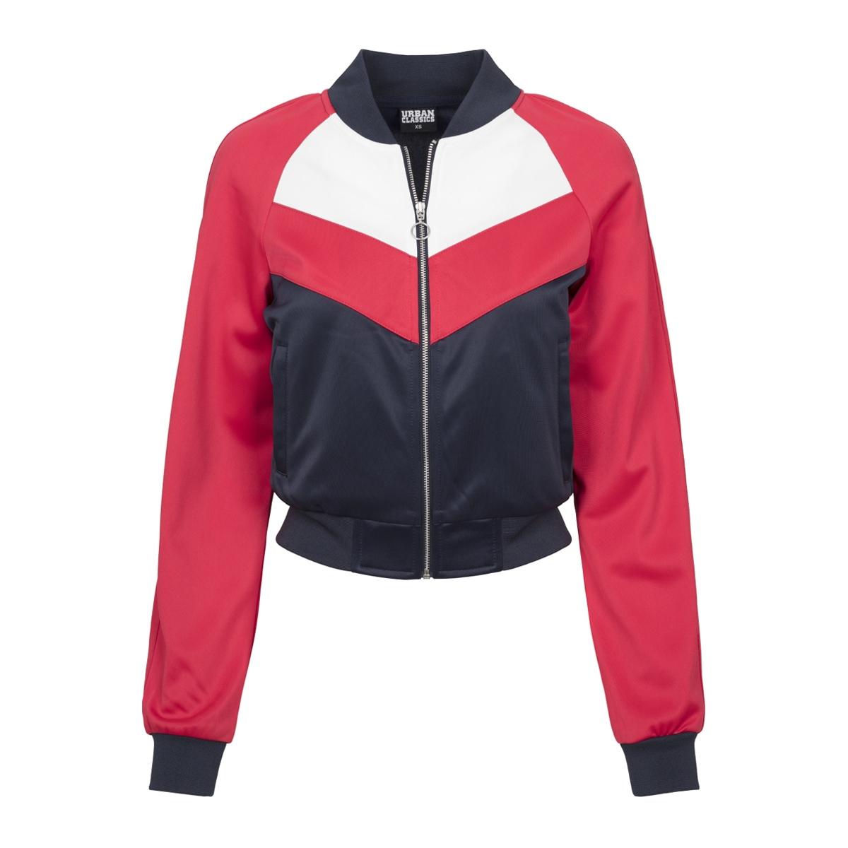 tb1856 short raglan track urban classics jas navy/red