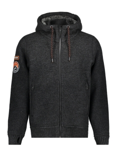 Superdry Jas M20000MR ZIPHOOD GQ3 Black/ Carcoal Twist