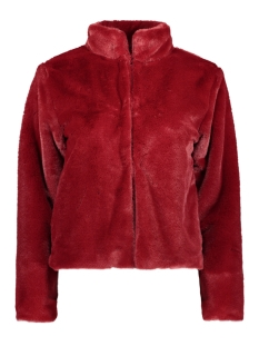 IZ NAIZ Jas FAKE FUR JACKET RED