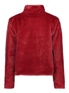 fake fur jacket iz naiz jas red