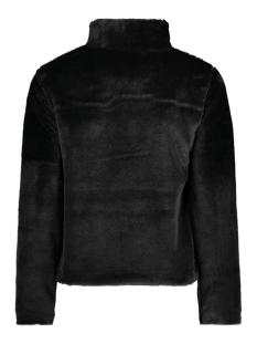 fake fur jacket iz naiz jas black