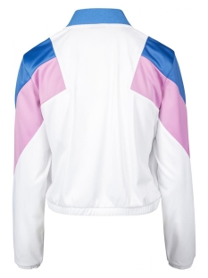 3 tone track jacket tb2361 urban classics jas white/blue/pink