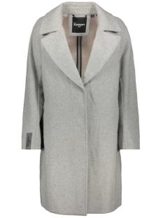 koben wool coat w5000034a superdry jas light grey marl