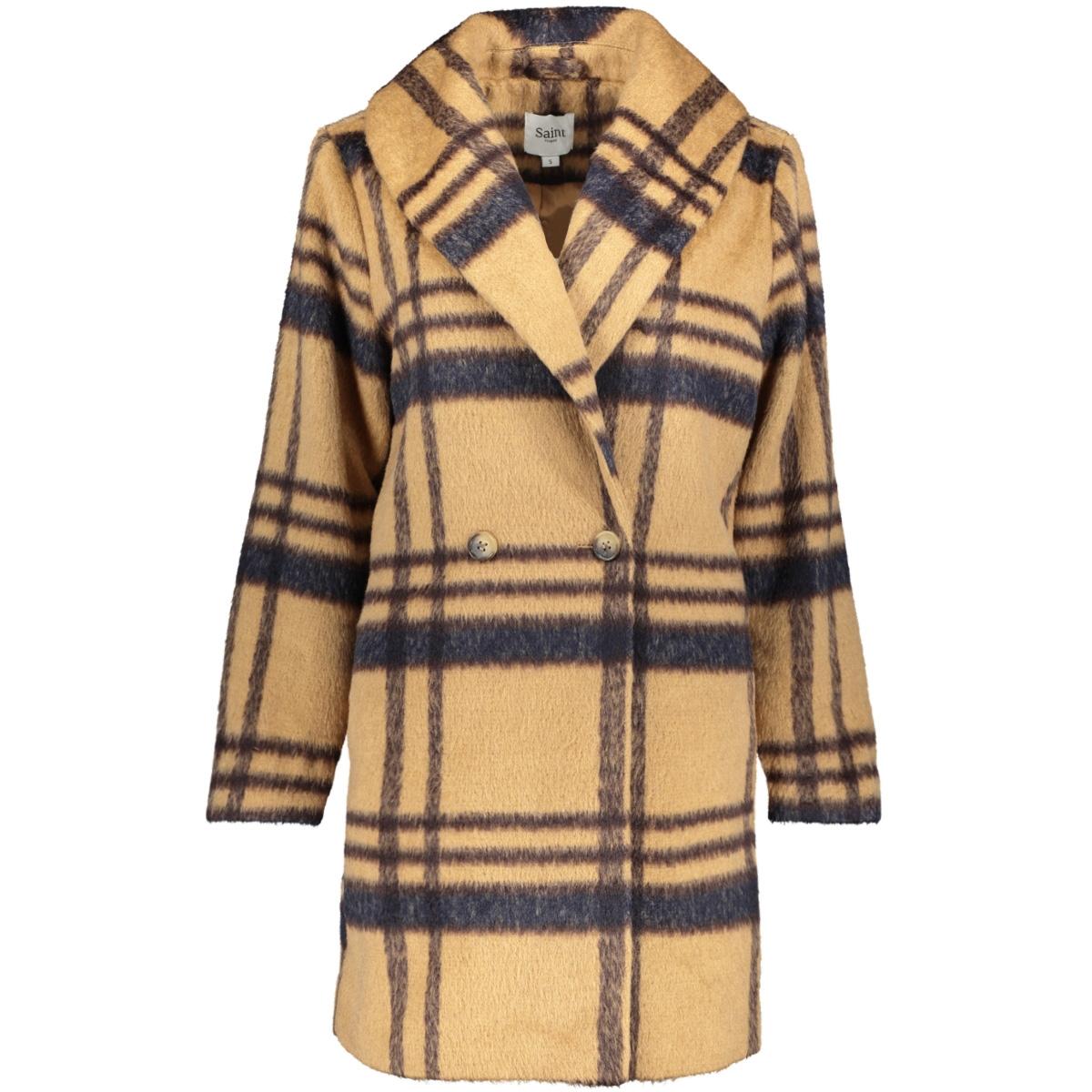 woven coat above knee u7007 saint tropez jas tobacco