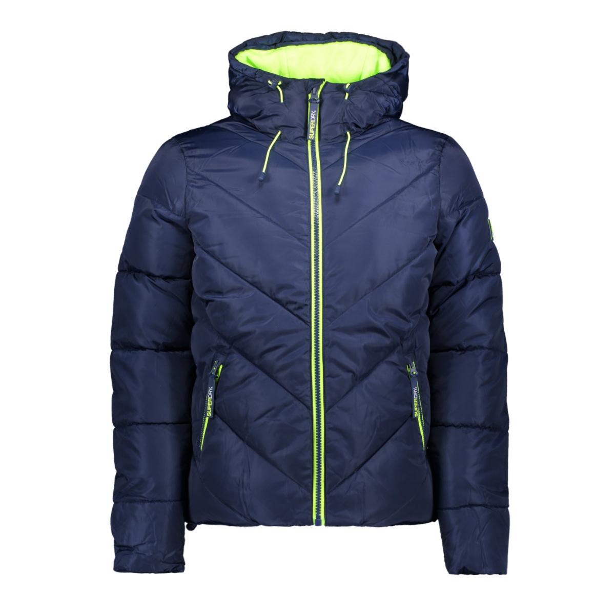 xenon padded jacket m50138yq superdry jas navy