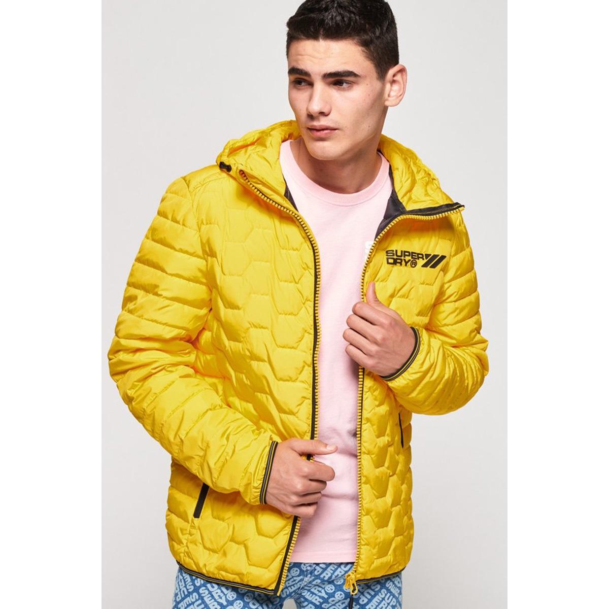 hex mix down jacket m50203du superdry jas yellow