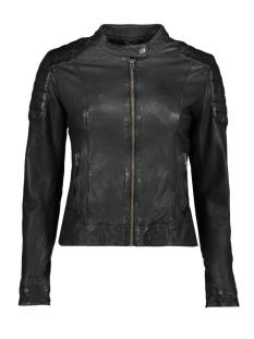 Goosecraft Leren jas BIKER 128 100001016 JET BLACK