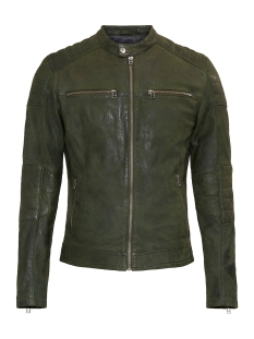 Goosecraft Leren jas JACKET 965 101932011 MILITARY GREEN