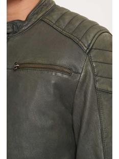 jacket 965 101932011 goosecraft leren jas military green