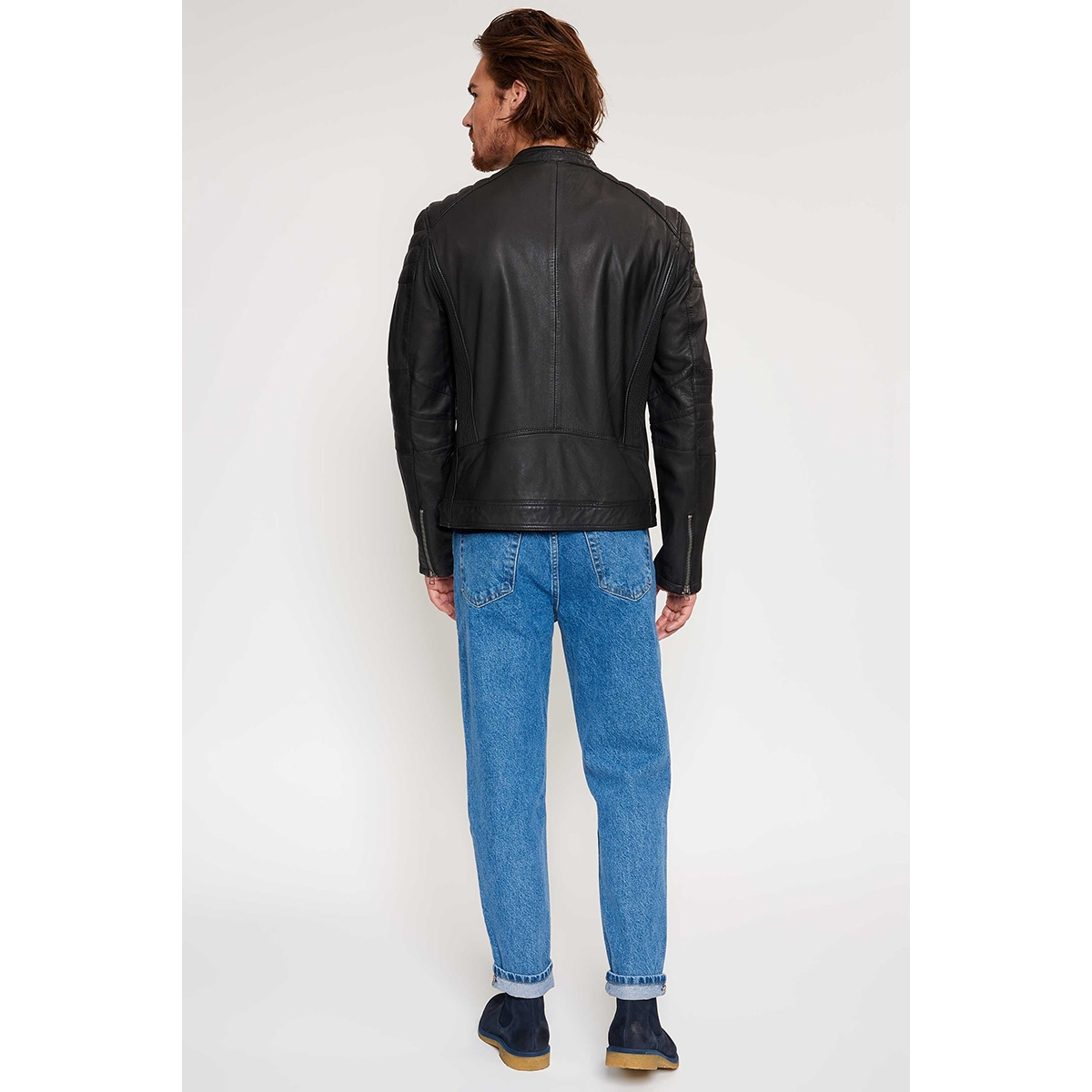 jacket 965 100002010 goosecraft leren jas black