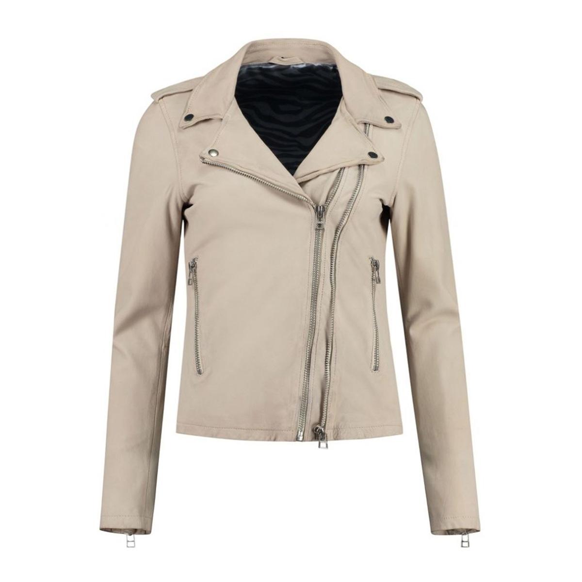 biker513 102011002 goosecraft leren jas sheep ray washed off white