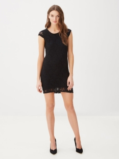 vmlilly lace short dress 10149582 vero moda jurk black