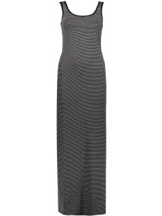 Only Jurk OnlAbbie Stripe Sl Long Oneck Dress 15112078 black/lgm