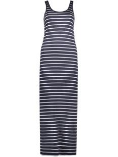 Only Jurk OnlAbbie Stripe Sl Long Oneck Dress 15112078 night sky