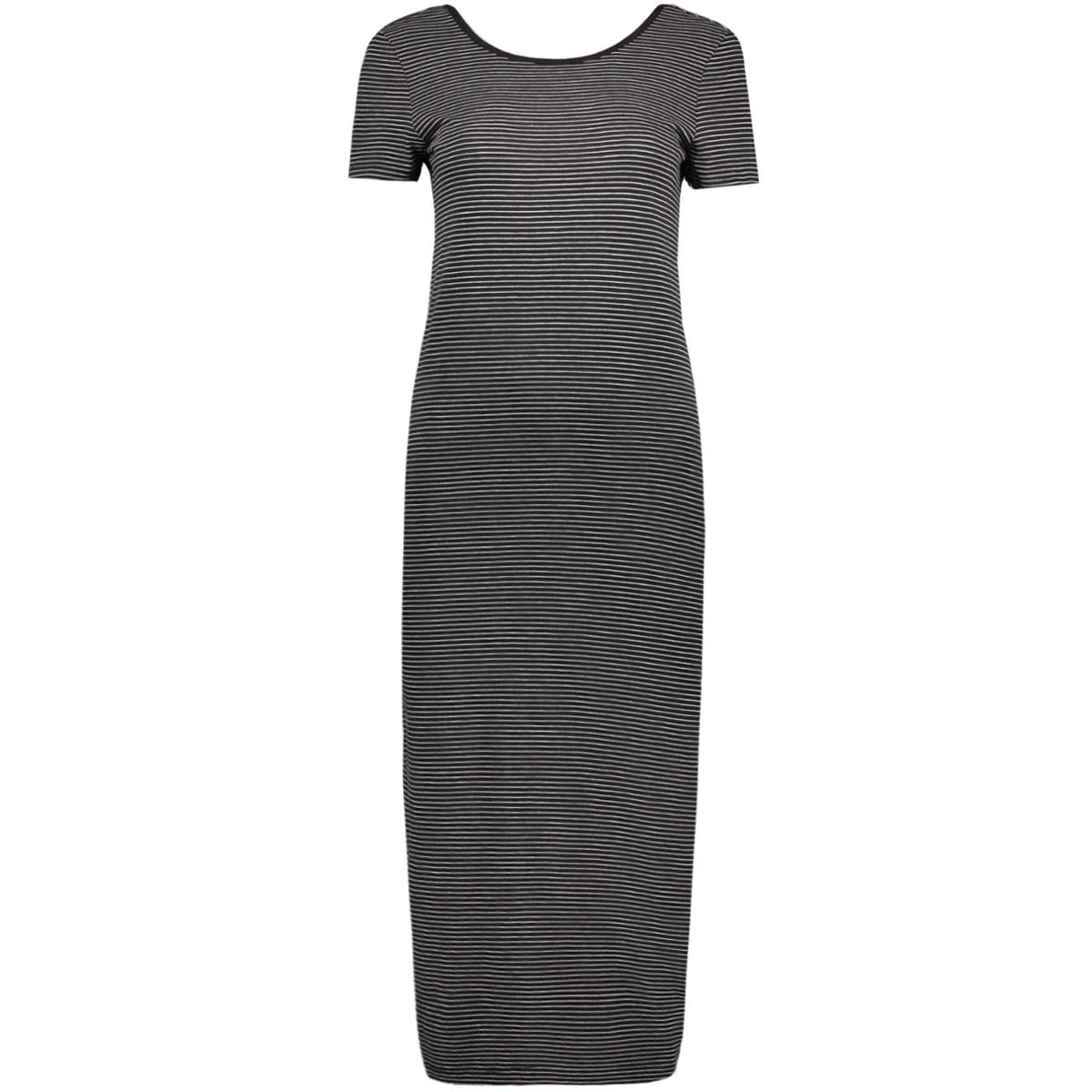 onlabbie stripe calf dress 15112079 only jurk black/lgm