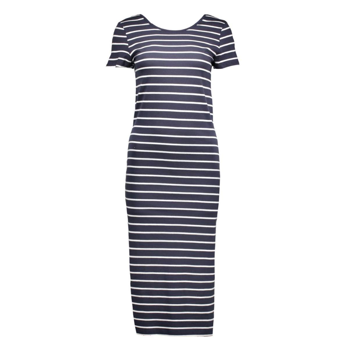 onlabbie stripe calf dress 15112079 only jurk night sky