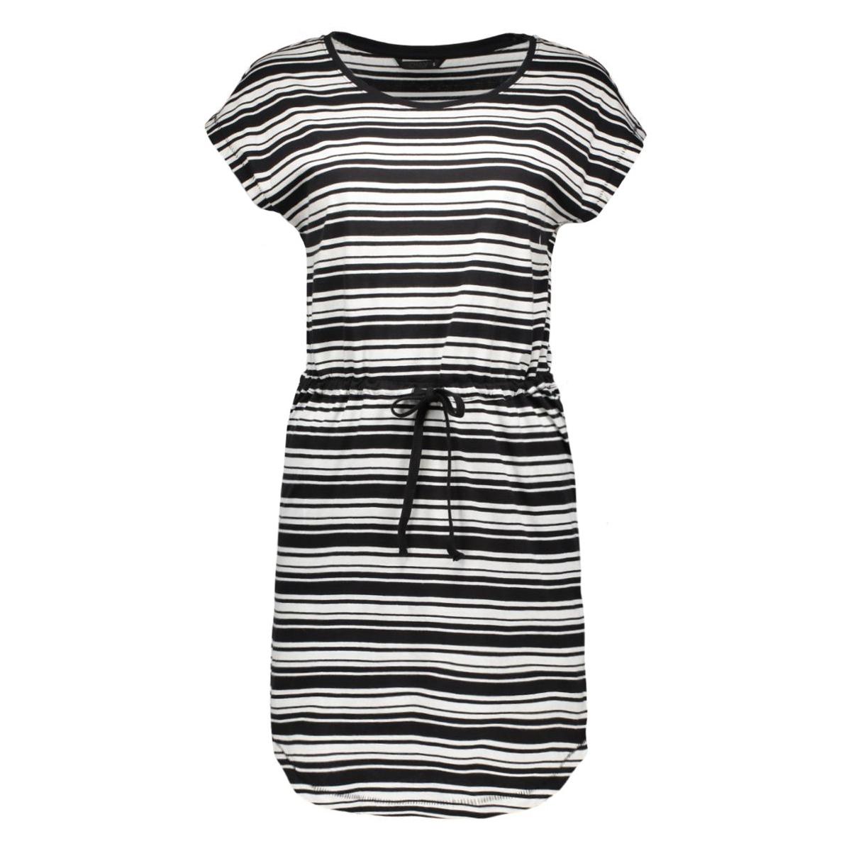 onlmay ss dress 15113085 2 only jurk black/cloud dancer