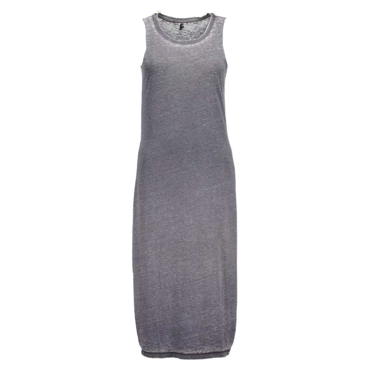 onlindie s/l tank dress 15119473 only jurk dark grey melange