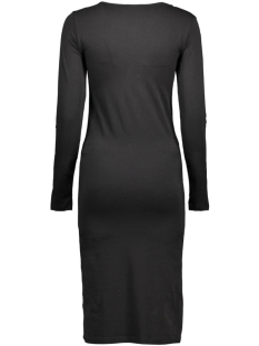 pcmaith ls midi dress 17076569 pieces jurk black