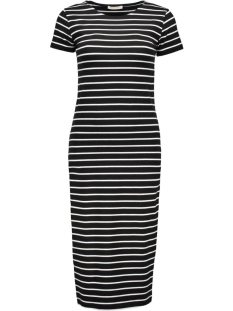 pcMaith Midi Dress 17076570 black/bright white
