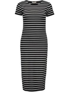 Pieces Jurk pcMaith Midi Dress 17076570 black/bright white