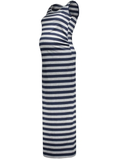 mlgitte s/l jersey maxi dress 20006311 mama-licious positie jurk colony blue