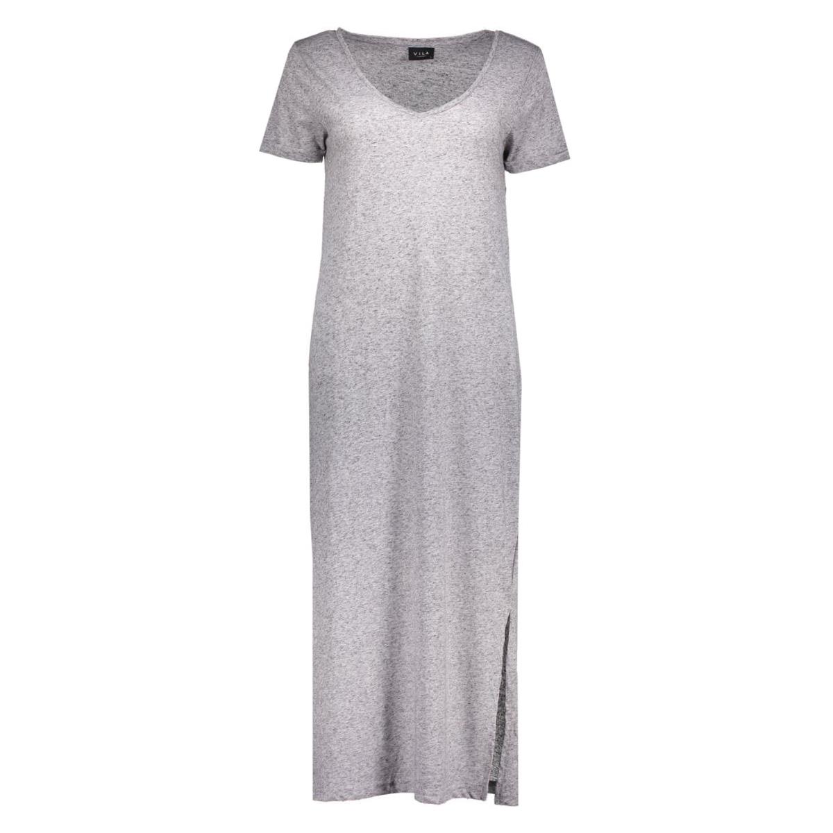 vimarli long dress 14034623 vila jurk light grey melange